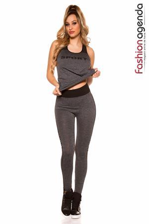 fashionagenda.ro Set Fitness Level Grey
