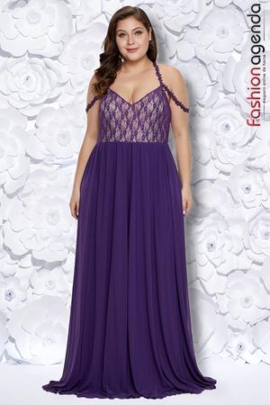 fashionagenda.ro Rochie XXL Desire 192 Violet