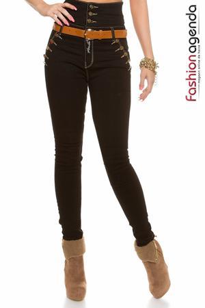 Jeans cu Talie Inalta Guerrin 14