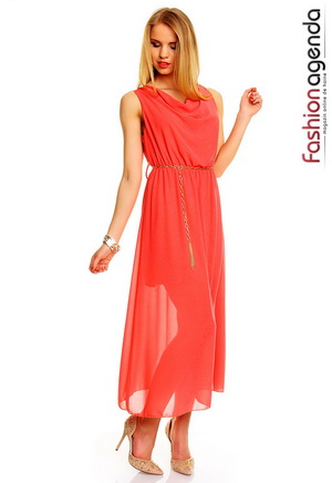 Rochie Lunga Coral Mayra