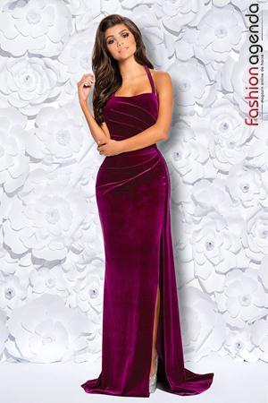 Rochie Lunga din Catifea Mabelle Berry