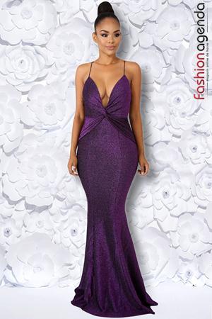 Rochie Eleganta Twist Purple