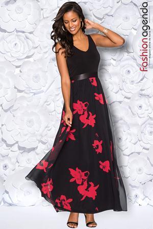 Rochie Red Flowers