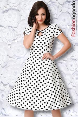 Rochie Polka Dot White