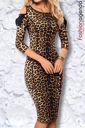Rochie Almeria 16 Leopard