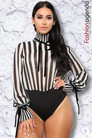 Body Stripes Negru