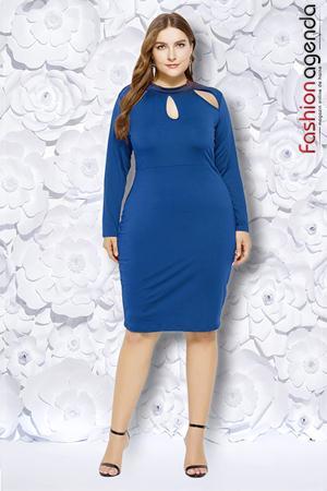 fashionagenda.ro Rochie XXL Desire 196 Albastra