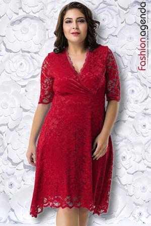 Rochie XXL Desire 205 Bordo