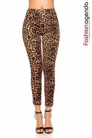 Pantaloni Anselmo Leopard