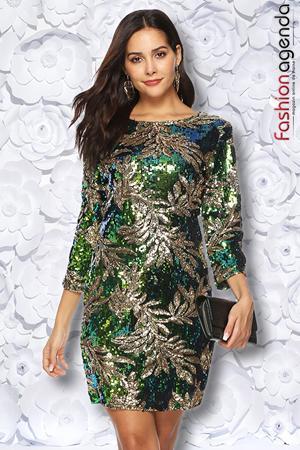 Rochie din Paiete Esquire 15 Green