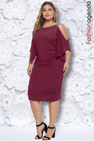 Rochie XXL Desire 219 Berry