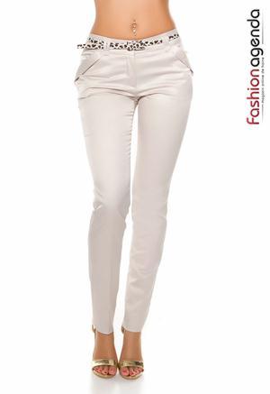 Pantaloni cu Curea Marwan Crem