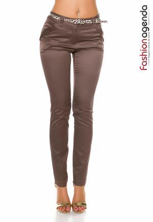 Pantaloni cu Curea Marwan Brown