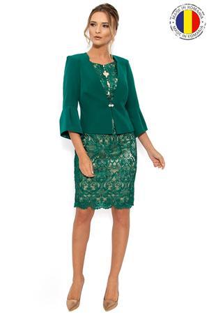 Costum cu Rochie Verde 005