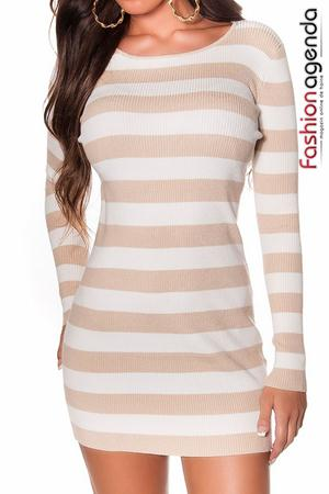 fashionagenda.ro Pulover Stripes Beige