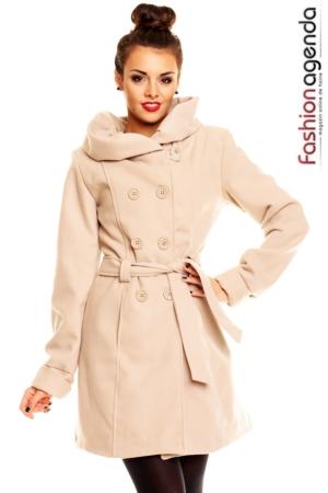 Palton Crem Ludmilla
