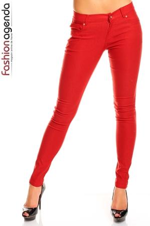 Pantaloni Rosii Robyn