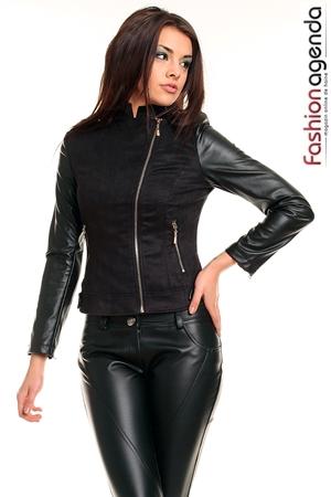 Jacheta Neagra din Piele Bonnie