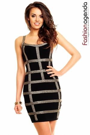 Rochie Neagra Estelle| Rochie Mulata De Culoarea Neagra|Fashionagenda