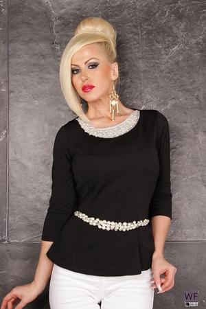 Bluza Pearl Black| Bluza Eleganta De Culoarea Neagra|Fashionagenda