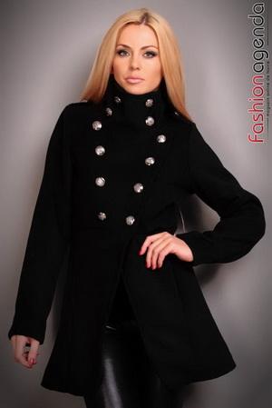 Palton Irma Negru