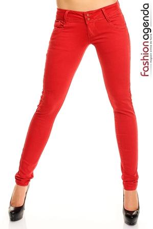 Pantaloni Rosii Everett