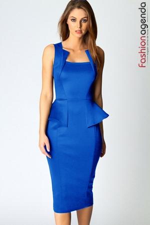 Rochie Midi Peplum Odette Blue