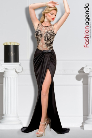 Rochie Lunga De Seara cu Croi Sirena Luxy