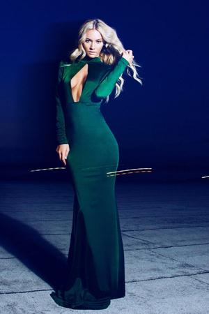 Rochie de seara lunga sirena Emerald Verde