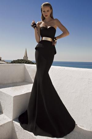 Rochie de seara lunga sirena Selena Negru