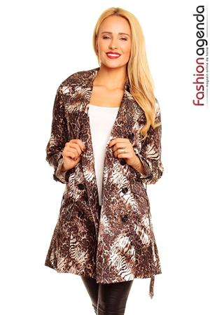 Trench Animal Print Lincoln