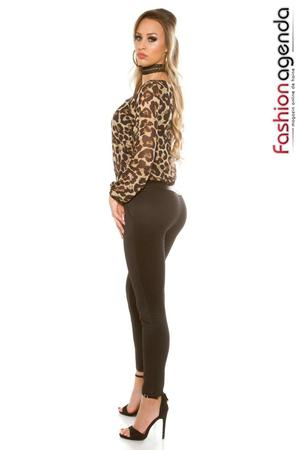 Salopeta Animal Print cu Maneci Lungi Bliss