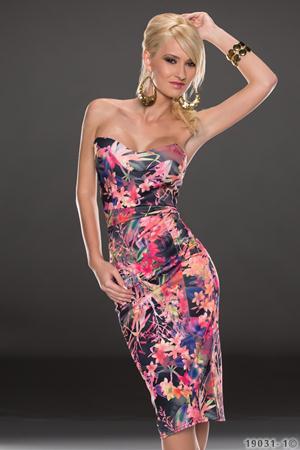 Rochie Midi cu Imprimeu Floral Dinorah