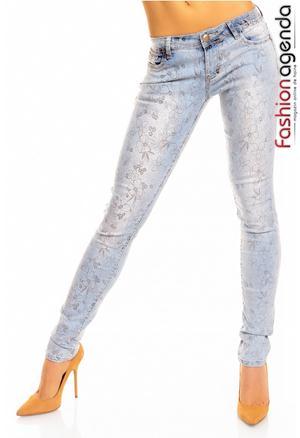 Jeans cu Imprimeu Emry