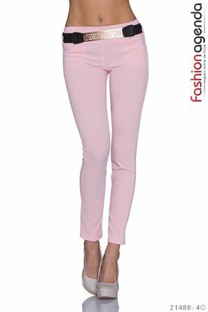 Pantaloni Roz cu Curea Hilario