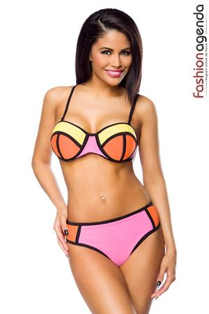 Costum de Baie Color Block