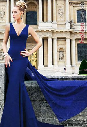 Rochie Lunga Eden Blue