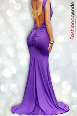Rochie Lunga Purple Mirage