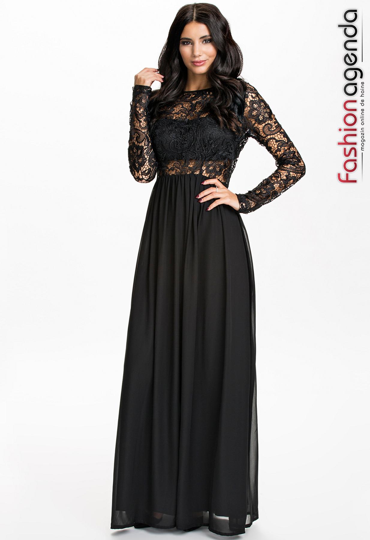 Rochie Lunga Neagra Dream Fashionagenda 01 Rochii Ocazie Xxl Online Preturi