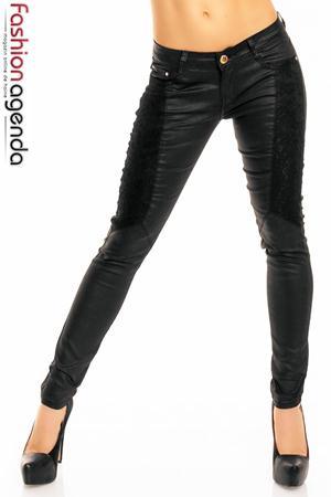 Pantaloni Negri Lace Fusion