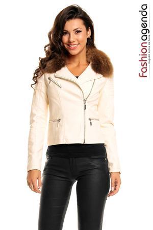 Jacheta din Piele Hanson Beige