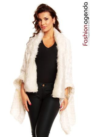 fashionagenda.ro Poncho Alb Empire