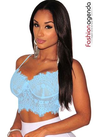 Top Din Dantela Gradie Blue