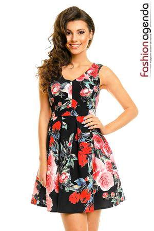 Rochie Neagra Perfect Roses
