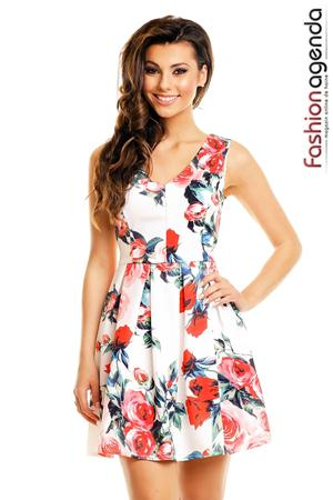 Rochie Alba Perfect Roses