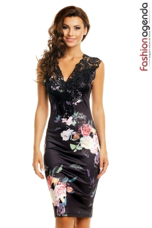 Rochie Neagra Spring Lace