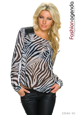 Bluza Animal Print Africana White