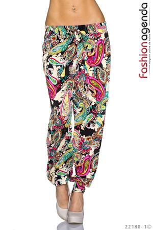 Pantaloni Paisley Print