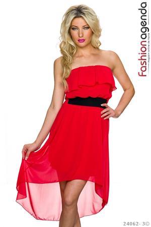 Rochie Asimetrica Imperial Red