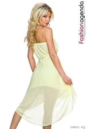 Rochie Asimetrica Imperial Yellow